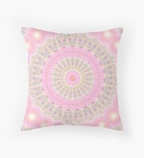 Azure Mandala Throw Pillow