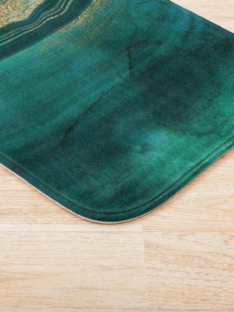 Alternate view of Gold Veined Green Luxury Marble  Bath Mat