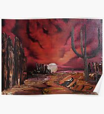 Dry Creek Bed in New Mexico Poster
