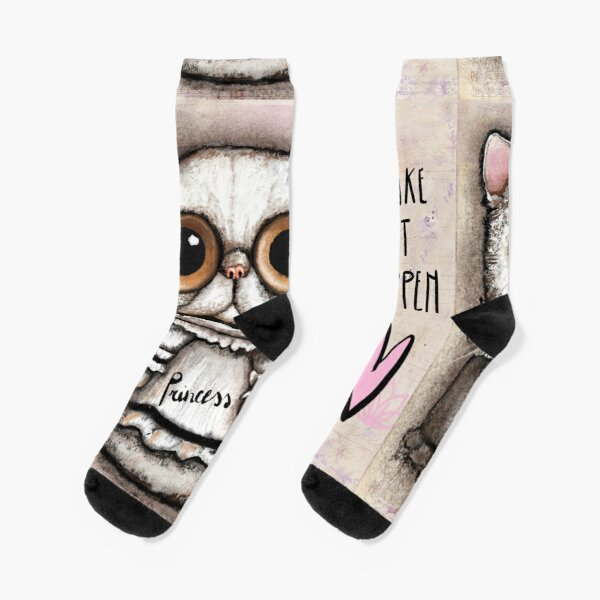 white persian cat with big eyes Socks
