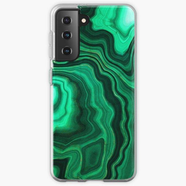 Malachite Green Marble with Gold Veins III Samsung Galaxy Soft Case