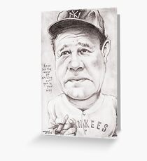 'Babe Ruth' gourmet caricature by Sheik Greeting Card