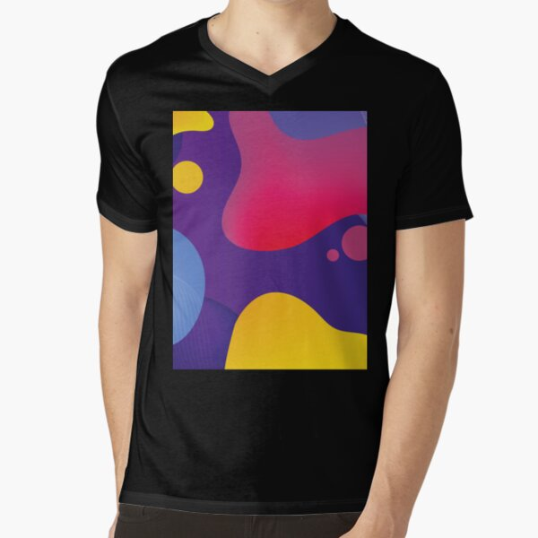 Very Cool, Super Awesome and kind of Pretty Amazing Colorful Abstract Pattern V-Neck T-Shirt