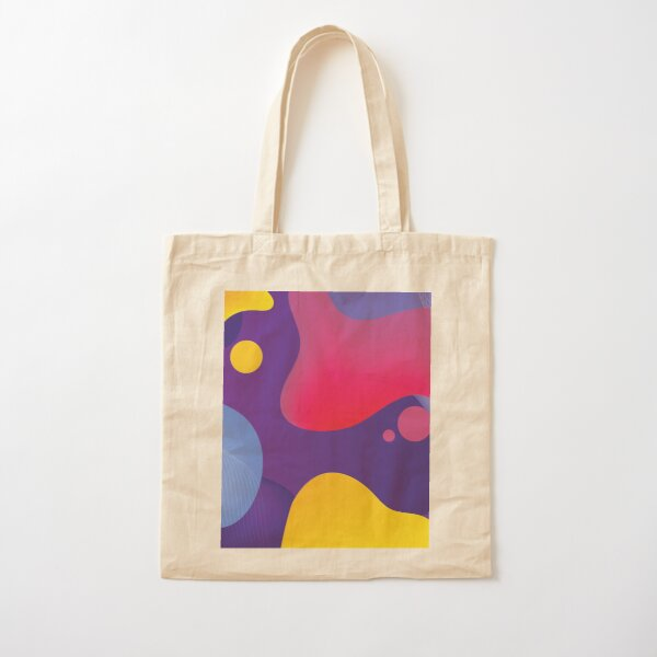 Very Cool, Super Awesome and kind of Pretty Amazing Colorful Abstract Pattern Cotton Tote Bag