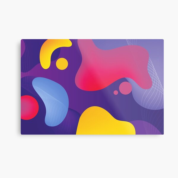 Very Cool, Super Awesome and kind of Pretty Amazing Colorful Abstract Pattern Metal Print