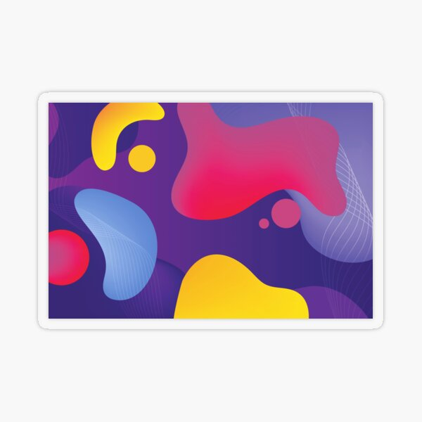 Very Cool, Super Awesome and kind of Pretty Amazing Colorful Abstract Pattern Transparent Sticker