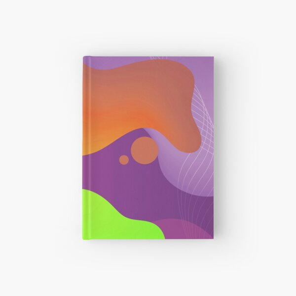 Very Cool, Super Awesome and kind of Pretty Amazing Colorful Abstract Pattern Hardcover Journal