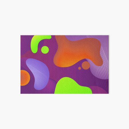 Very Cool, Super Awesome and kind of Pretty Amazing Colorful Abstract Pattern Art Board Print
