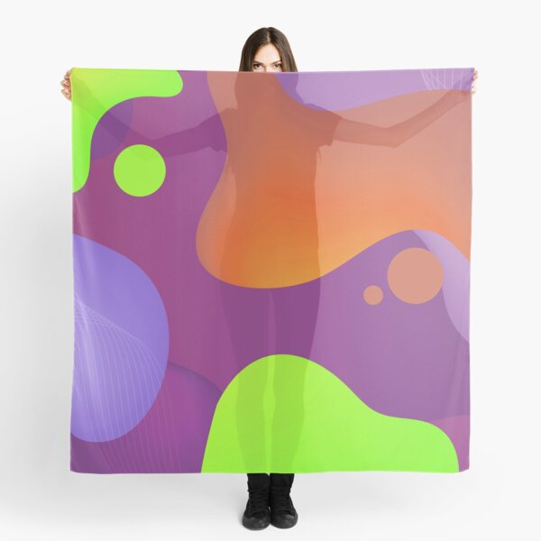 Very Cool, Super Awesome and kind of Pretty Amazing Colorful Abstract Pattern Scarf