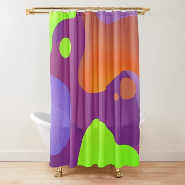 Very Cool, Super Awesome and kind of Pretty Amazing Colorful Abstract Pattern Shower Curtain
