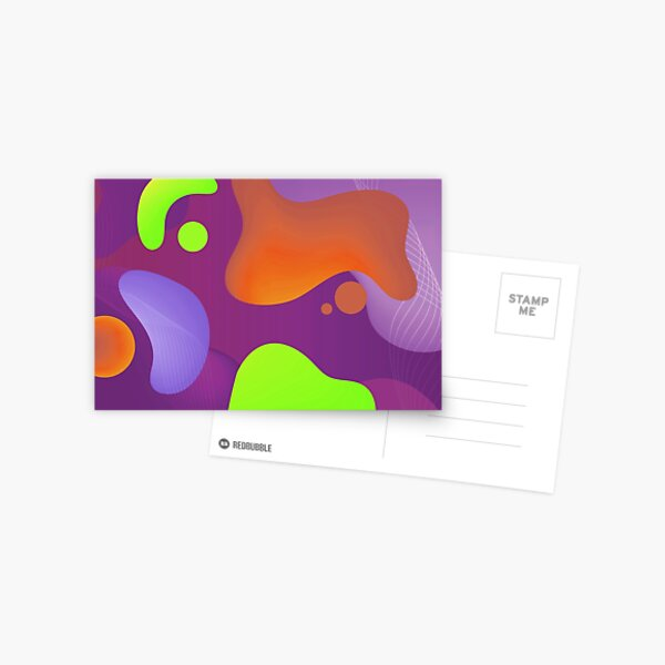 Very Cool, Super Awesome and kind of Pretty Amazing Colorful Abstract Pattern Postcard