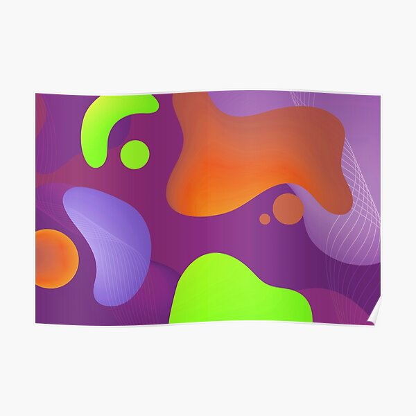Very Cool, Super Awesome and kind of Pretty Amazing Colorful Abstract Pattern Poster
