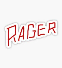 Kid Cudi Travis Scott Rager Sticker