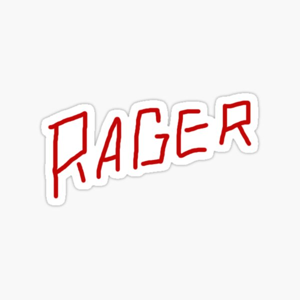 Kid Cudi Travis Scott Rager Sticker