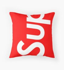 "Supreme style ""sup"" Throw Pillow"