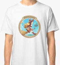 Pepper & Carrot volant avec Komona en arrière-plan - Pepper & Carrot official T-shirt classique