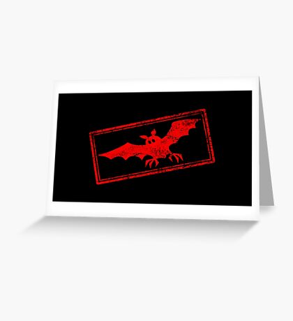 Halloween Bat (Vintage Stamp) Greeting Card