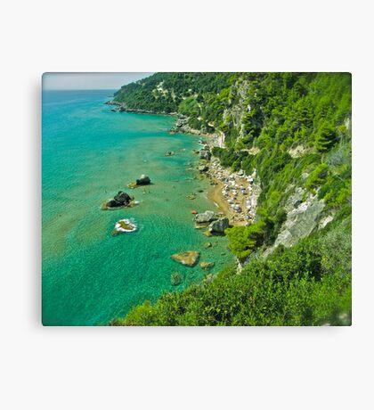 5 ★★★★★ . The beach of Myrtiotissa . Corfu. Greece  -  one of the most beautiful beaches in Europe. by Brown Sugar. F*** Views (637) . Favs (4). Mu ine poli efcharisto ! thanks !!! Canvas Print