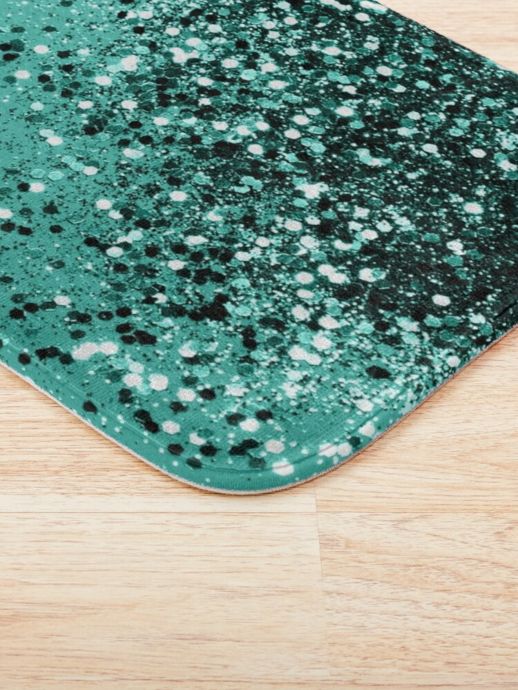 Alternate view of Sparkling Turquoise Lady Glitter #1 #shiny #decor #art Bath Mat