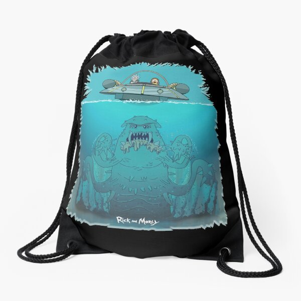 Rick n Morty 'Up from the Blue' Loose Drawstring Bag