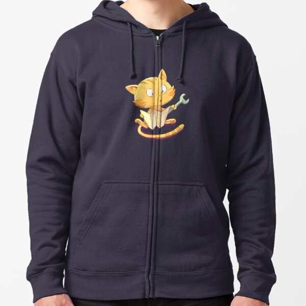 Carrot is repairing - Pepper&Carrot official Zipped Hoodie