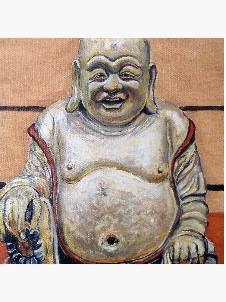Happy Buddha by donnaroderick