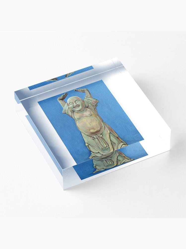 Alternate view of Standing Happy Acrylic Block