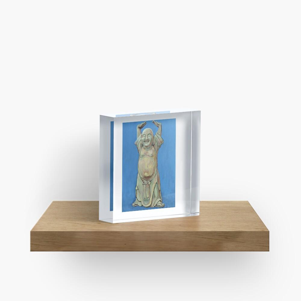 Standing Happy Acrylic Block