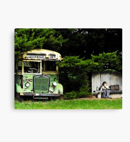Bus Stop to Nowhere Canvas Print