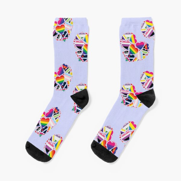 LGBT Pride Heart  Socks