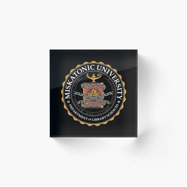 BEST SELLER Miskatonic University Merchandise Acrylic Block