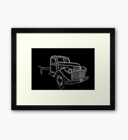 Ghost Truck Framed Print
