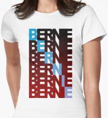 bernie sanders textual burn Women's Fitted T-Shirt