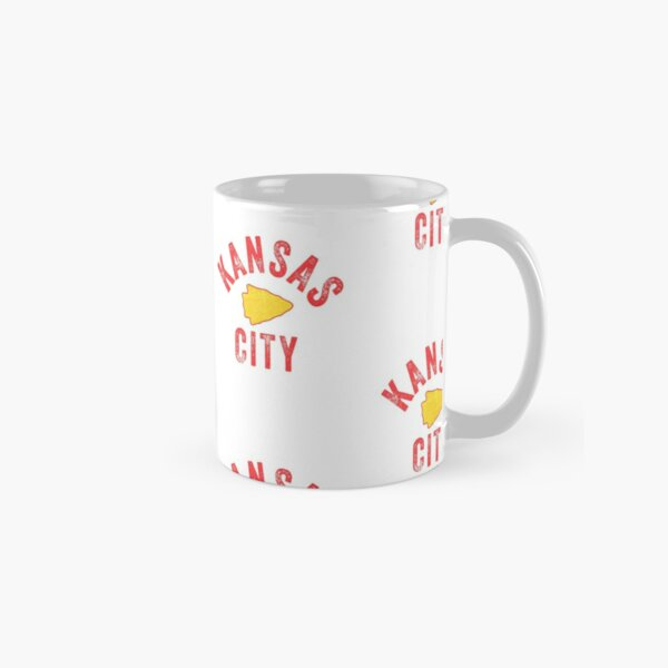 KC Football Tribal Gear Arrowhead Kansas City Vintage Kc Fan Local Pro Gear KC Face mask Kansas City facemask Classic Mug