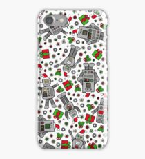 Merry Christmas Robots iPhone Case/Skin