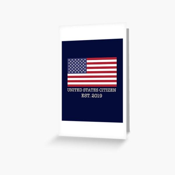 Ciudadano de EE. UU. 2019 ,, Celebre el primer año nuevo en los EE. UU. Tarjetas de felicitación