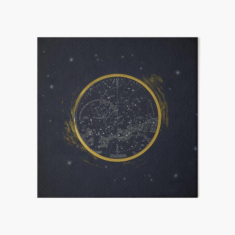 Vintage Cosmos: Star Map Art Board Print
