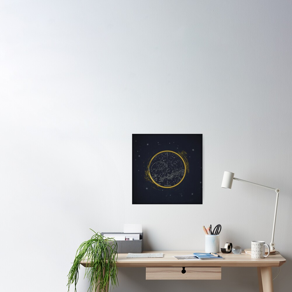 Vintage Cosmos: Star Map Poster