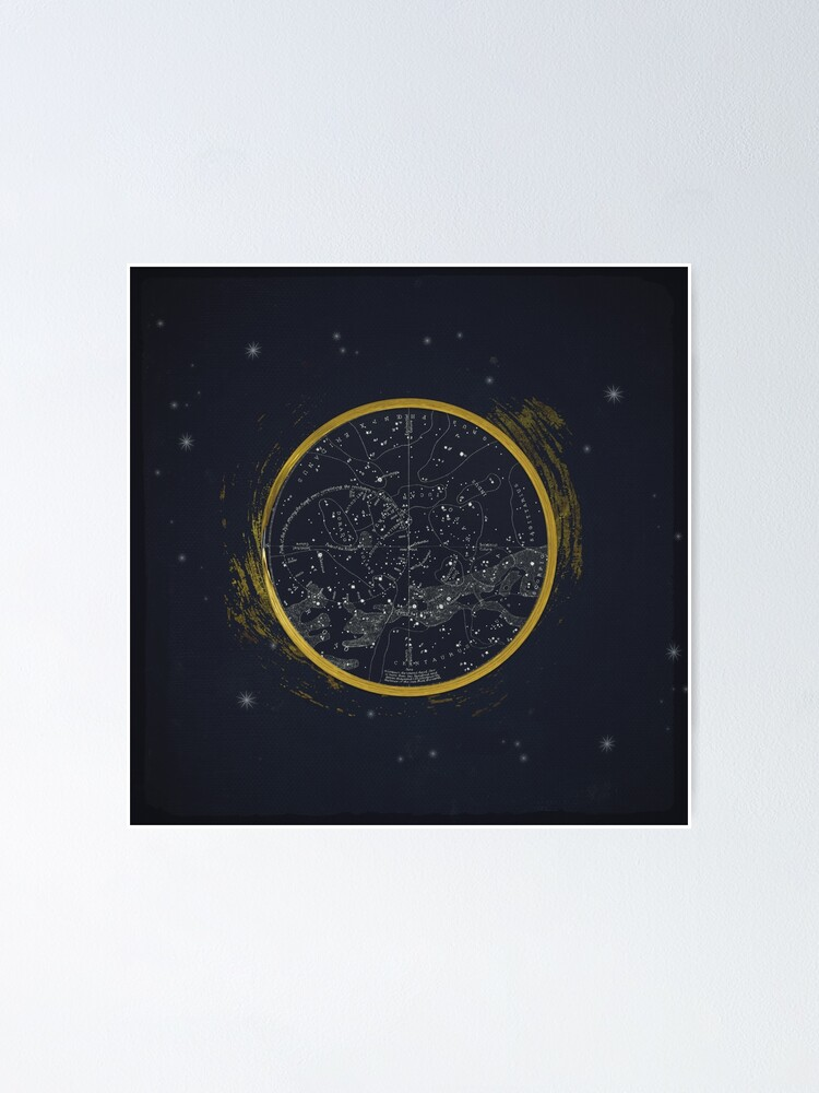 Alternate view of Vintage Cosmos: Star Map Poster