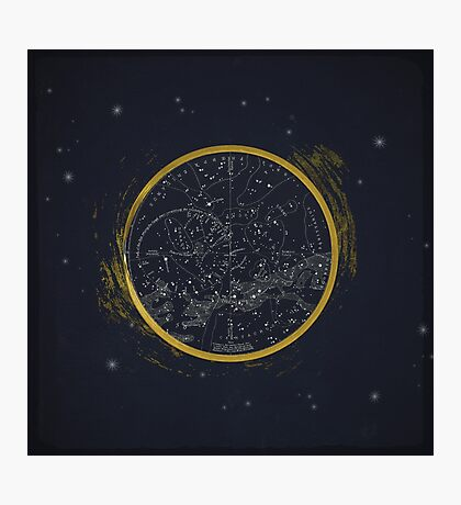 Vintage Cosmos: Star Map Photographic Print