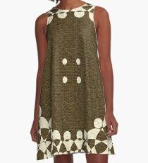 Papaya Whip Blanket A-Line Dress