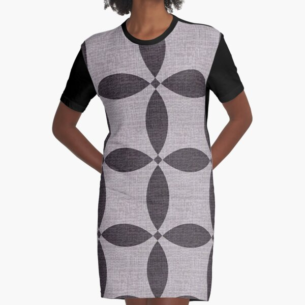 Retro Blanket Graphic T-Shirt Dress