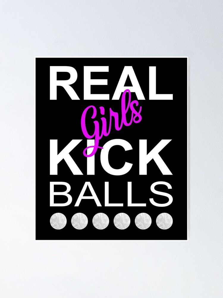 Kick balls girls First time