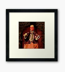 """Red Monkey"" martial character Framed Print"