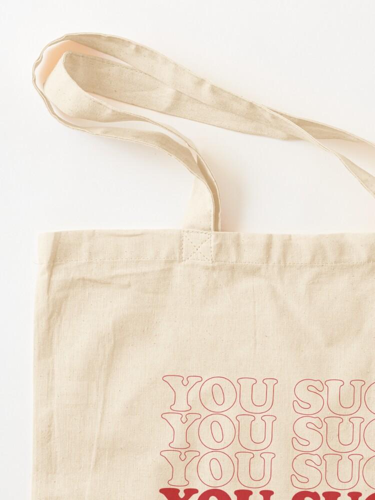 Alternate view of USuck Tote Bag