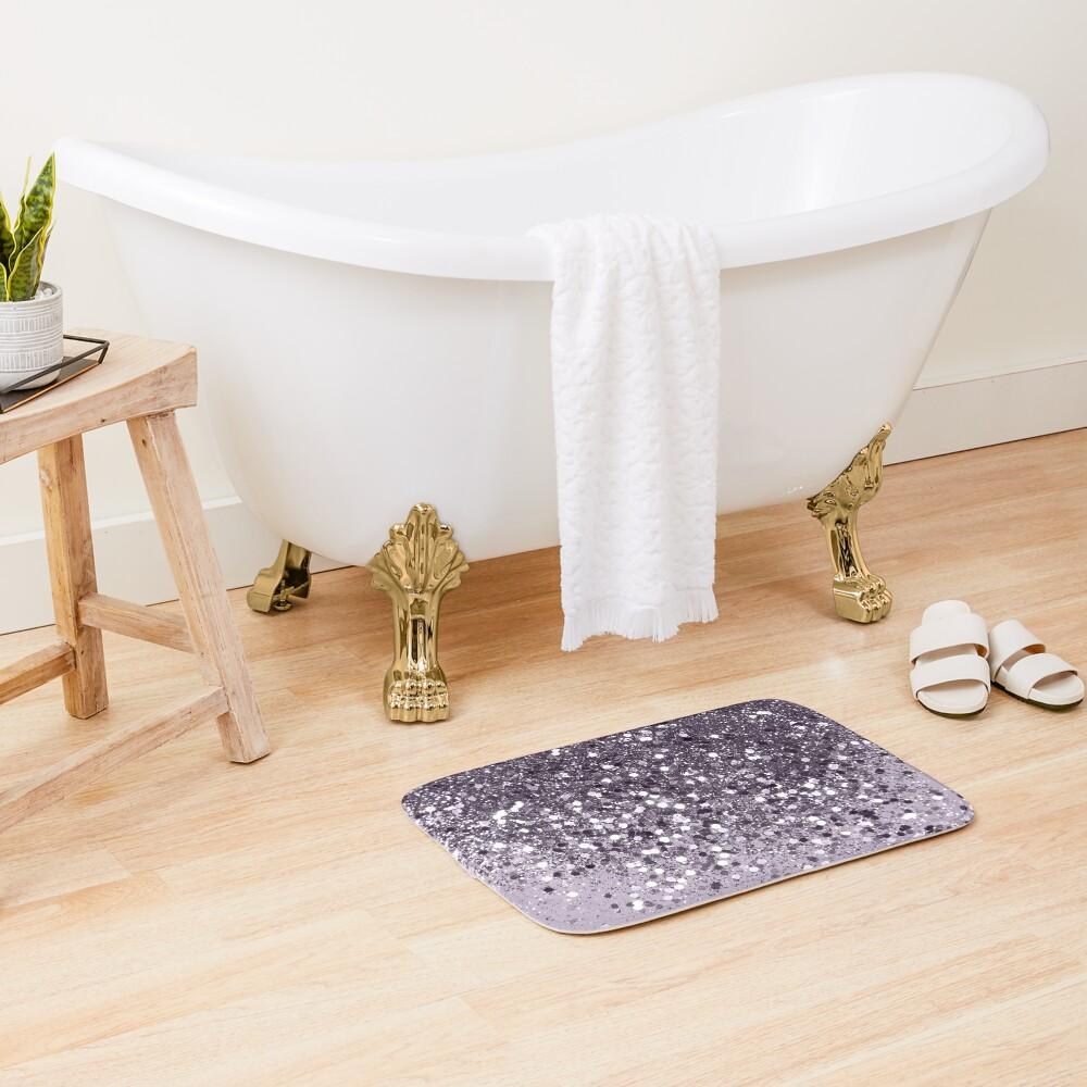 Sparkling Lavender Lady Glitter #2 #shiny #decor #art Bath Mat