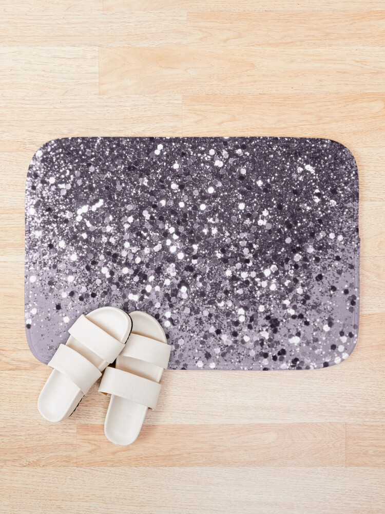 Alternate view of Sparkling Lavender Lady Glitter #2 #shiny #decor #art Bath Mat