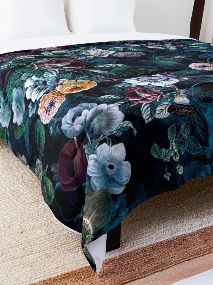 Alternate view of Night Flowers Comforter