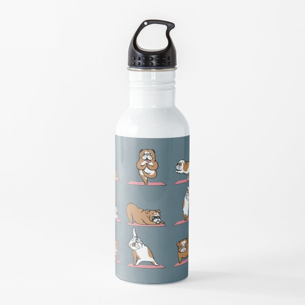 English Bulldog Yoga Water Bottle