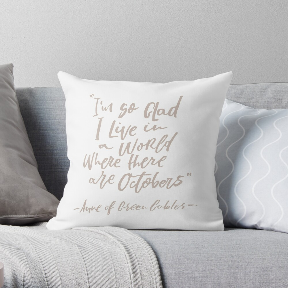 Octobers Throw Pillow